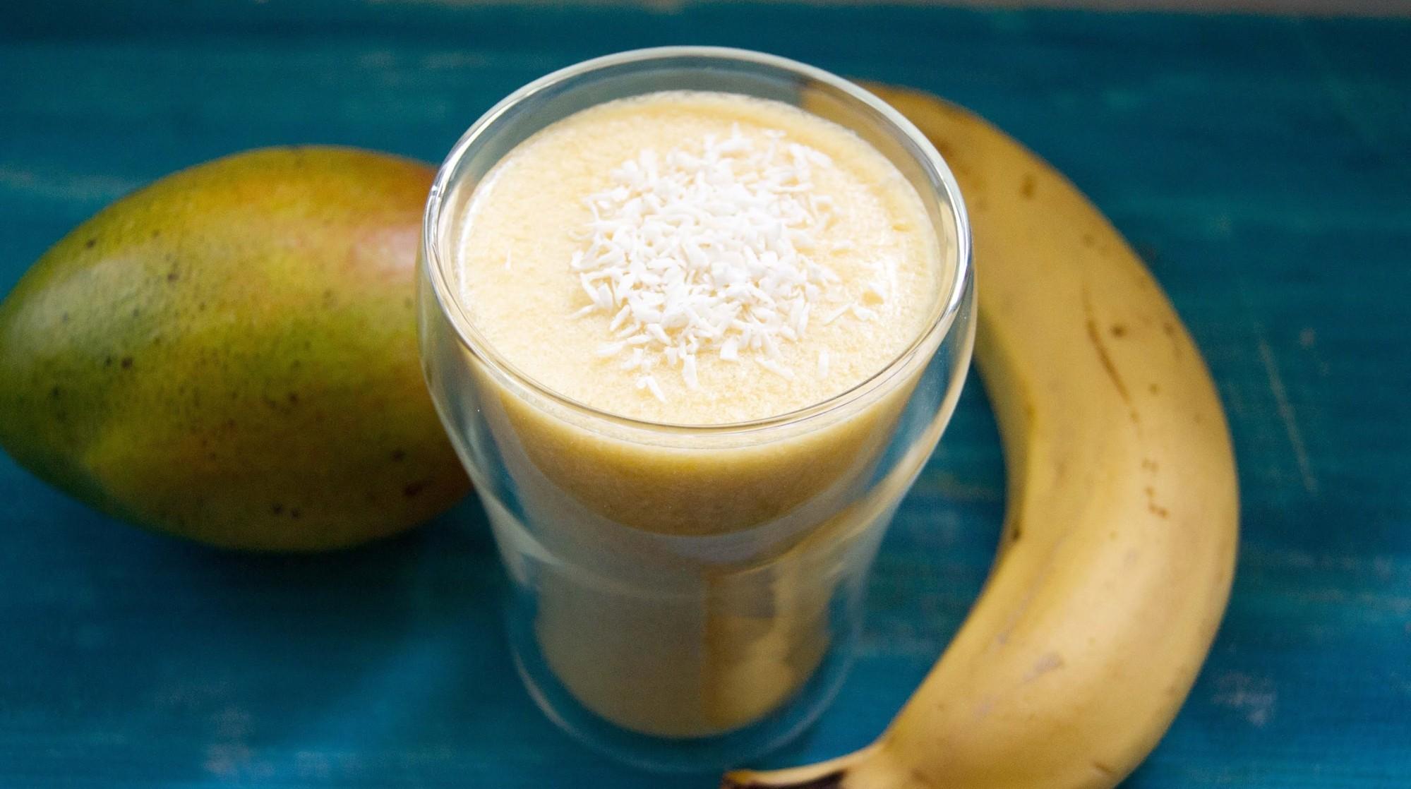 Mango Bananen Softeis (vegan)