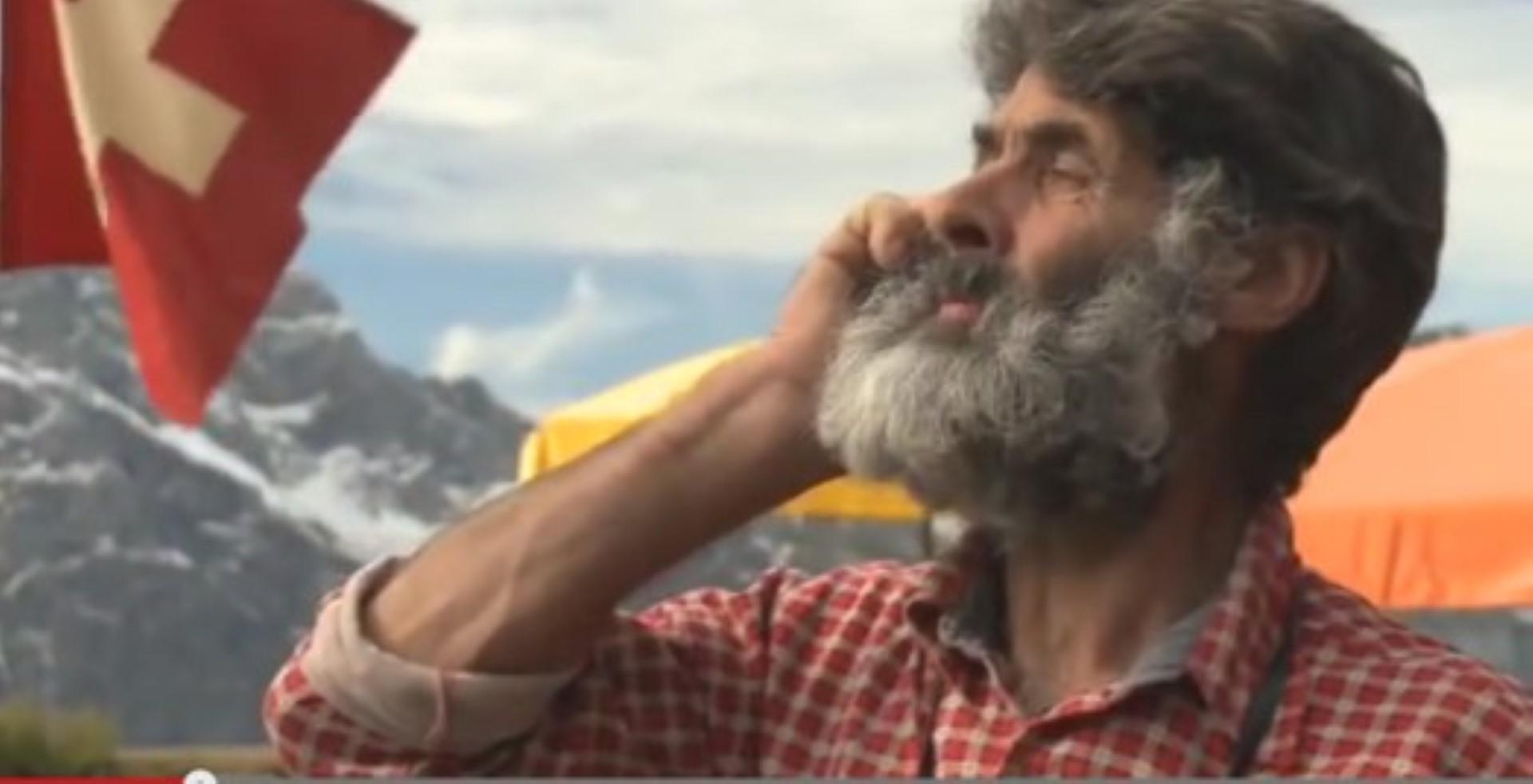 Schweizer putzen sogar die Berge