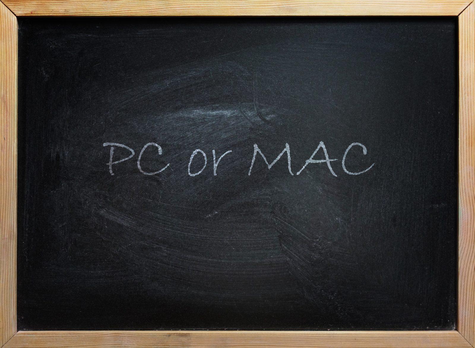 Windows versus Mac, ein altes Thema gerade top aktuell
