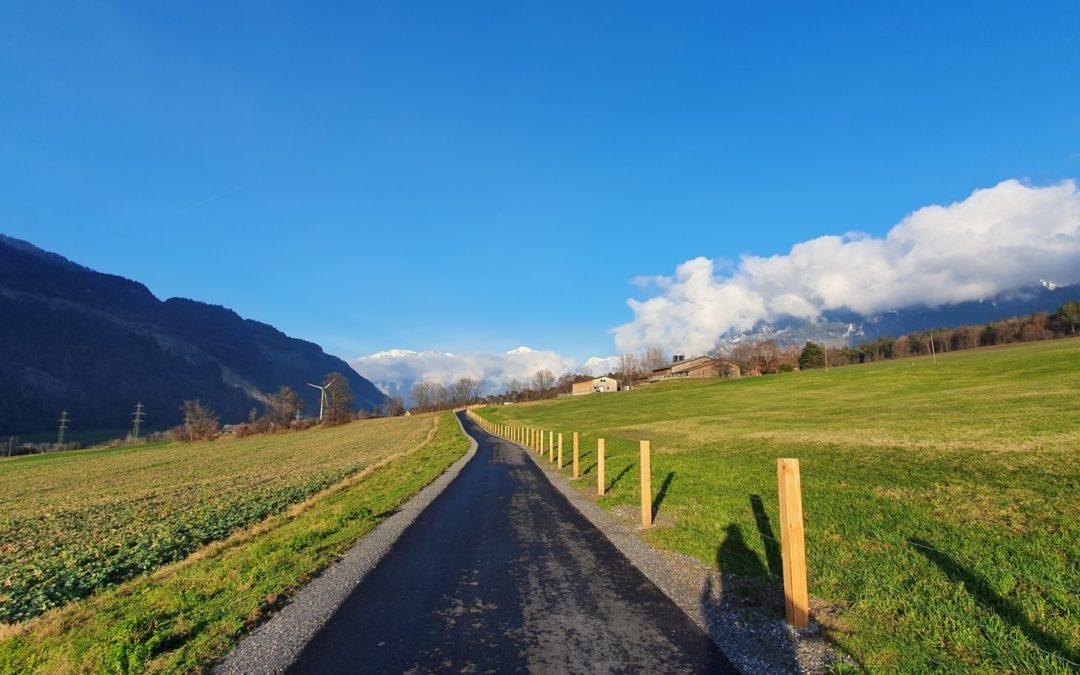 Veloweg Trimmis Chur – Toller Radweg nach Chur